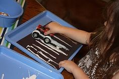 painting with cars for a transportation unit!