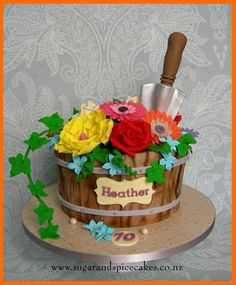 Flower Pot Cake by Mel_SugarandSpiceCakes