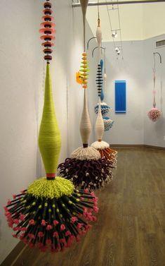 Hooked on Svelte, 2015 Joel S. Textile Fiber Art, Textile Artists, Soft Sculpture, Abstract Sculpture, Artistic Installation, Textiles, Yarn Bombing, Passementerie, Crochet Art
