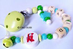 Schnullerketten - Schnullerkette für Jungs mit Flugzeug - ein Designerstück von ENO-BUBI bei DaWanda