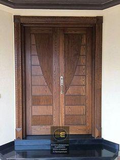 House Main Door Design, Home Door Design, Wooden Main Door Design, Double Door Design, Door Gate Design, Exterior Entry Doors, Entrance Doors, Modern Wooden Doors, Doors And Floors