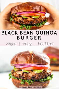 This vegan black bean quinoa burger recipe is healthy, satisfying, hearty, and also so easy to make! In addition, it's gluten-free, baked or cooked in a pan, and is simply the best! Store-bought veggie burgers can be expensive and also you don't really know the quality of the ingredients. These homemade vegan burgers are so quick to make and perfect for BBQ's and summer. You can grill them by placing it on a grill tray as well. #blackbeanquinoaburger #veganburger #veggieburger…