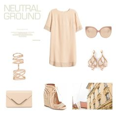 """Neutral style 2"" by bham8 ❤ liked on Polyvore featuring Jeffrey Campbell, H&M, Accessorize, Repossi, Shaun Leane and Linda Farrow"