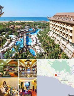 Este hotel balnear situa-se no Mar Mediterrânico, na célebre cidade turca de Side, apenas a 5 km de Colakli e a cerca de 50 km de Antalya. Até ao aeroporto da Antalya são aproximadamente 50 km.