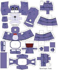 Diviértete con este interactivo Papercraft de ¨Bonnie Original¨ de color Morado de Fnaf Crafts, Anime Crafts, Cool Paper Crafts, Paper Crafts Origami, Instruções Origami, Oragami, Paper Doll Template, Power Ranger Birthday, Creative Bookmarks