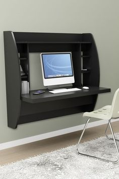 Floating Desk with Storage - Black by Entryway and Living Room Storage on @HauteLook