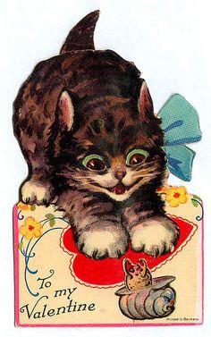 Vintage Valentine: Menacing Kitty by pageofbats, via Flickr