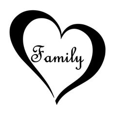 Family Heart Vinyl Wall Decal Love For homes by SidratDecals