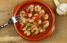 Garnalen in knoflookolie Healthy Dinner Recipes, Low Carb Recipes, Snack Recipes, Snacks, Healthy Food, Seafood, Good Food, Brunch, Food And Drink