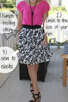 DIY simple summer skirt - $10 for fabric, lining, elastic