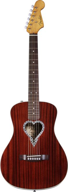 FENDER Alkaline Trio Malibu Acoustic Guitar | Small White Mouse