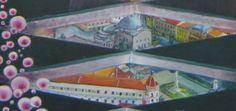 Széchenyi tér (plein) in Pécs Hongarije Detail 'kleerhanger' Detail, Canvas, Tela, Canvases