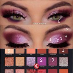 Docolor Makeup Fantasy Make Up Set Foundation Eyebrow Concealer Cosmetic Eyeshadow Brushes Kits - Cute Makeup Guide Makeup Eye Looks, Eye Makeup Steps, Cute Makeup, Smokey Eye Makeup, Pink Smokey Eye, Smokey Eye Steps, Black Smokey, Awesome Makeup, Smoky Eye