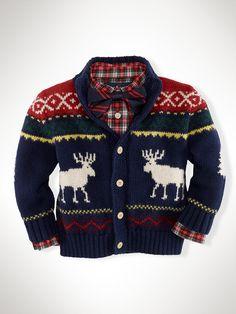 Reindeer Mockneck Sweater - Sweaters  Infant Boy (9M-24M)…
