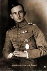 German WWI fighter ace, Adolf Ritter von Tutschek was born 16/5 1891.