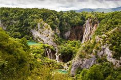 The beauty of Plitvice National Park, Croatia, boosted it into the second round of the New Seven Wonders of Nature competition New Seven Wonders, Plitvice Lakes National Park, Garden Park, Nature Reserve, Natural Wonders, Nature Photography, Waterfall, Beautiful Places, National Parks