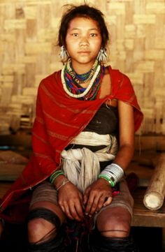 Asia | Portrait of a Kayah girl, Myanmar | © Richard K Diran