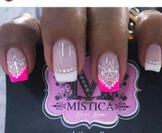 Pretty Nails, Fun Nails, Pink Nail Designs, Luxury Nails, Christmas Nails, Nail Colors, Nail Polish, Hair Beauty, Cami
