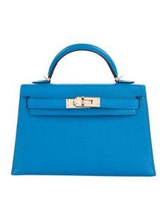 #HERMES | Blue Zanzibar Chevre leather Hermès Chevre Mini Kelly Sellier