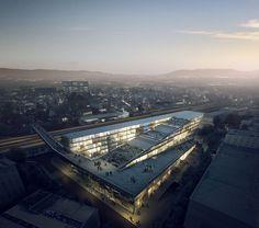 LINKAGE in Mendrisio, Switzerland by  Kengo Kuma & Associates and Architetti Pedrozzi e Diaz Saravia