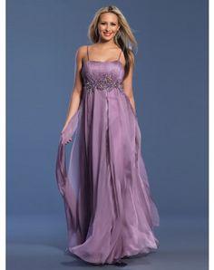 Vintage A-line Spaghetti Straps Rhinestone Sleeveless Floor-length Organza Prom Dresses