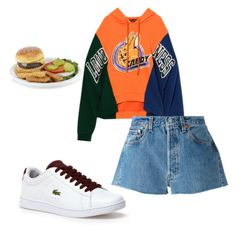 """J burgers"" by miumiudeleeuw on Polyvore featuring Lacoste and Levi's"