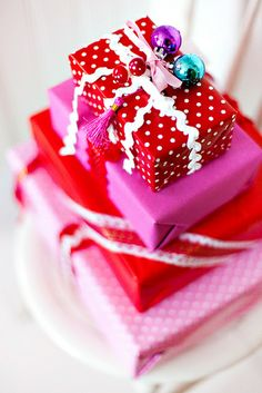 Sweet color mix - ribbons - mini ornaments