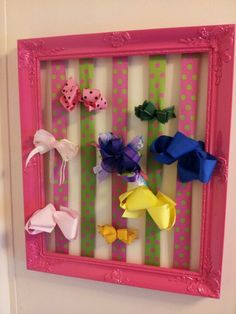 Hair bow holder. If someone made me this, I'd love them