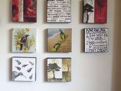 Tui, Fantail, Kiwi, Kiwiana Canvas Art (Handmade) Art at the Villa Kiwiana, Handmade Art, Canvas Art, Villa, Joy, Culture, Interior Design, Frame, House