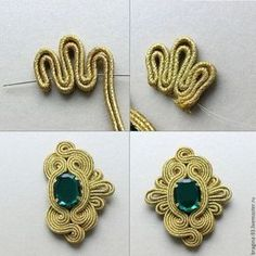 trendy Ideas for embroidery jewelry tutorial soutache earrings Embroidery Fashion, Embroidery Jewelry, Beaded Embroidery, Soutache Pattern, Soutache Tutorial, Macrame Jewelry, Fabric Jewelry, Jewelry Crafts, Handmade Jewelry
