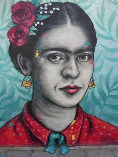 """Frida"" mural by Zabou in Ada Street, London"