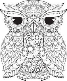 Seth Owl - Color Me Hola ANGEL - colorear, diseño, detallado, meditación, colorear para crecido ups, buho, lindo colorear para niños