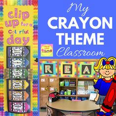 Classroom Photos Crayon Theme - Back to School Clip Chart Forms and More