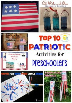 Is your favorite patriotic activity for preschoolers on my Top 10? | homeschoolpreschool.net