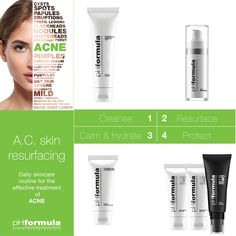 The overall acne skin resurfacing results depend on the correct application and use of home care products as prescribed by your pHformula skin specialist. Acne And Pimples, Acne Skin, Oily Skin, Skin Resurfacing, Skin Specialist, Skin Cleanse, Clogged Pores, Skin Care, Posts
