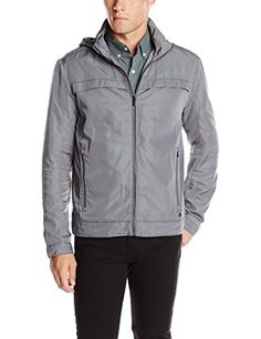 Calvin Klein Men's Poly Twill Jacket with Hidden Hood Review