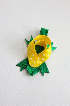 Turtle Hair Clip - Made from Ribbon by BabyGeneration on Etsy, $3.50