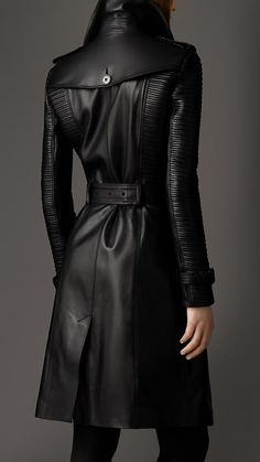 Long Lambskin Biker Trench Coat | Burberry