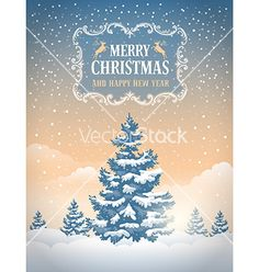 Christmas greeting cards vector by Pazhyna on VectorStock®
