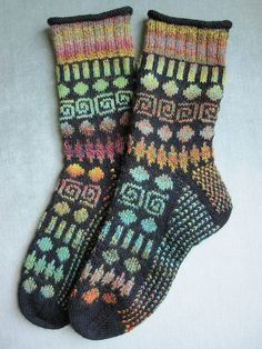 Ravelry: Circles and Spirals Socks pattern by Mimi Kezer