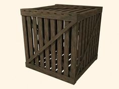 Free Max Mode Old Wood Crate - 3D Model