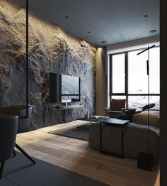 Loft Interior, Best Interior Design, Modern Interior, Interior Architecture, Interior Decorating, Modern Luxury, Stone Interior, Industrial Architecture, Scandinavian Interior