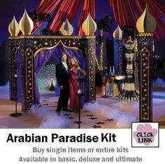 Step into the Ariabian Nights as a spectacular prom theme idea.  Buy as complete kit ($689.00 )or just the pieces you need.
