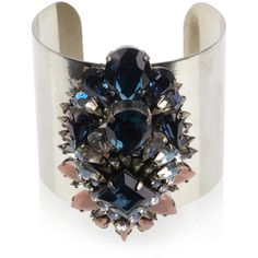 Shourouk Helga crystal cluster cuff ($433) ❤ liked on Polyvore