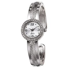 You will love this product from Avon:  Textured Hinge Bangle Watch