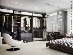 waow, now thats what I call a wardrobe :) but with mirrored doors would be gorgeous