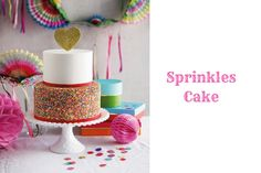 Sprinkles cake is served to add a color in the wedding party. It is the best suitable cake for the theme parties. You can add the extra color of joy and happiness via decorating the cake table with adorable sprinkles cake.