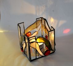 Candle Holder - Stained Glass