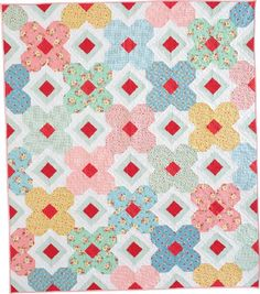Garden Trellis Quilt Pattern rail fence & solid blocks with a thin