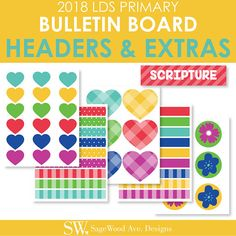 FREE 2018 Primary Bulletin Board Printables   I am a Child of God